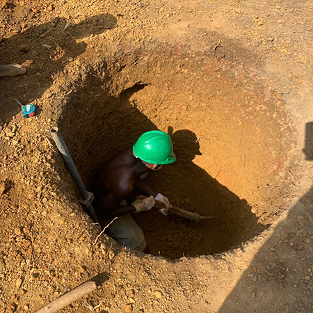 Hope for Liberia digging water well